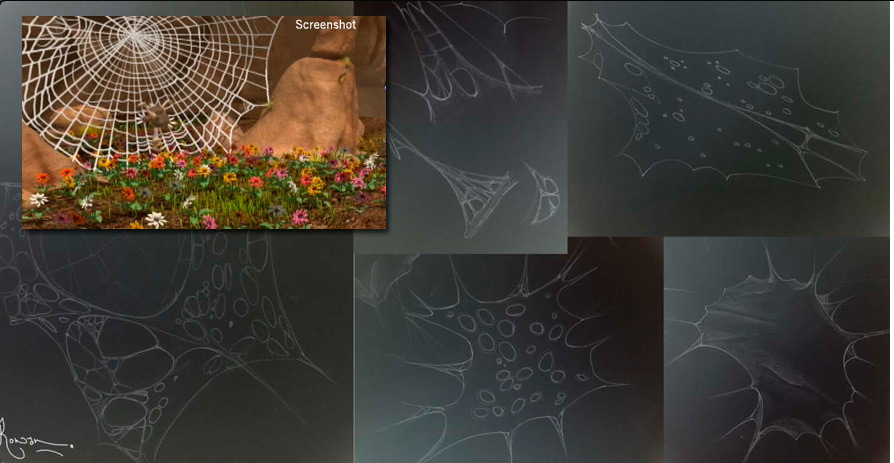 Spiderweb Sketches and Screenshot